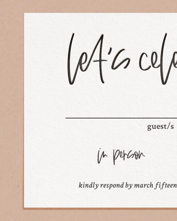 Modern Letterpress & Foil Wedding Reply RSVP Card Detail