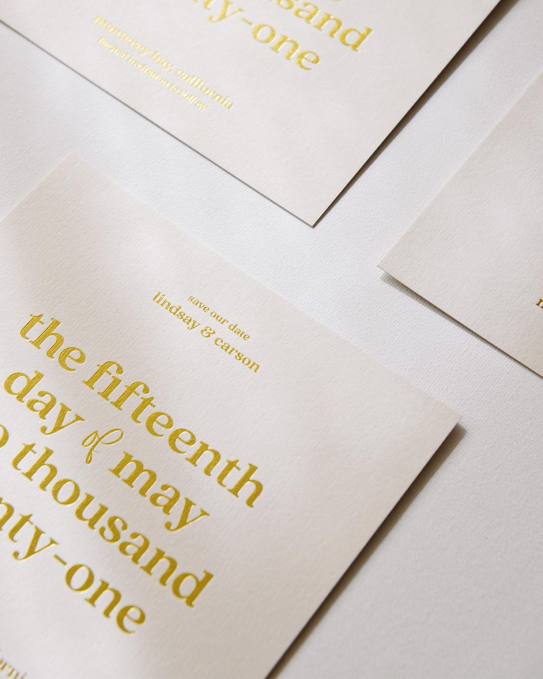 Elegant Foil Wedding Save The Date Card