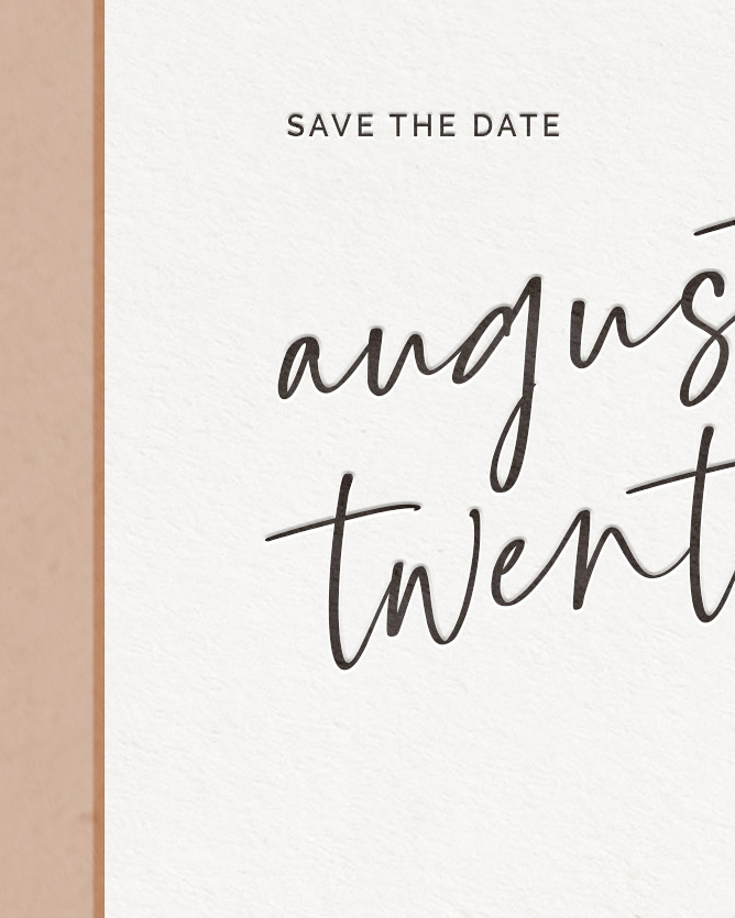 PaperCrush Luxury Wedding Save The Date Detail