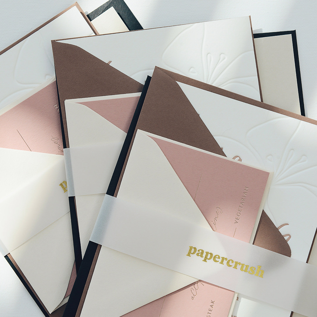 PaperCrush Luxury Elegant Wedding Stationery Design Samples