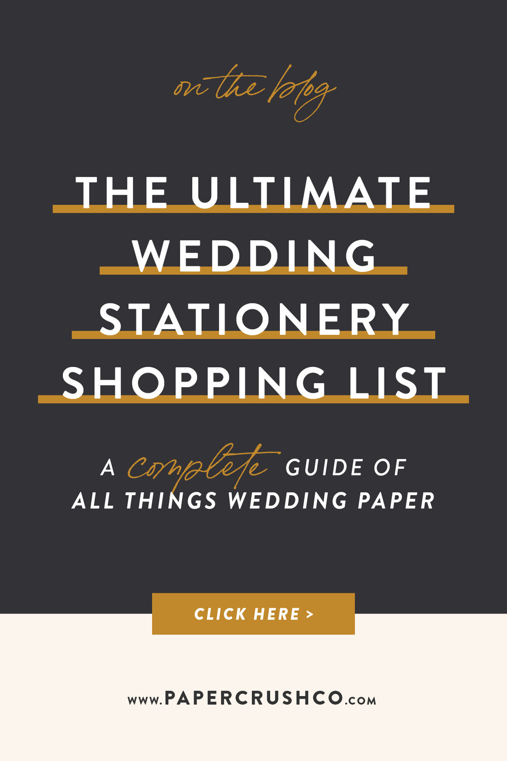 The Ultimate Wedding Stationery Shopping List
