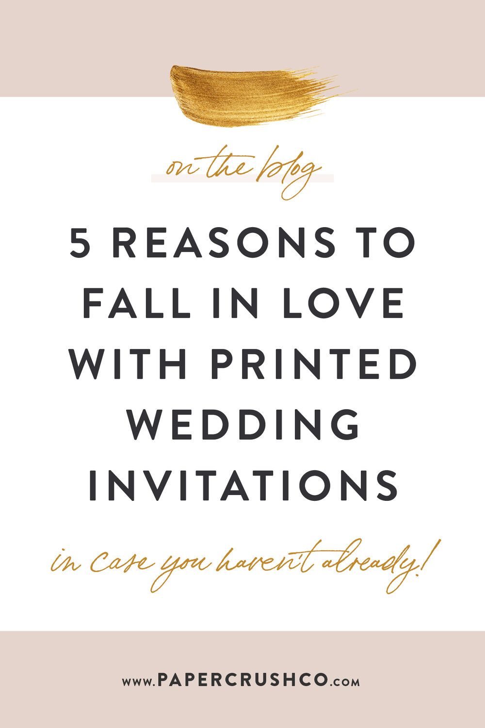 xWhen it comes to the wedding details we love the most, printed stationery definitely takes the cake for us! What's not to love about opening up an elegant invitation in the mail? Here are 5 reasons to fall in love with print (in case you haven't already)!