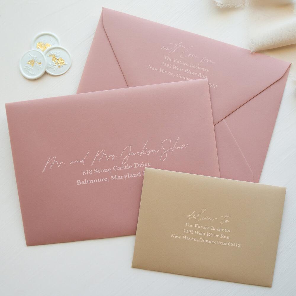 Addressed Wedding Invitation Envelopes