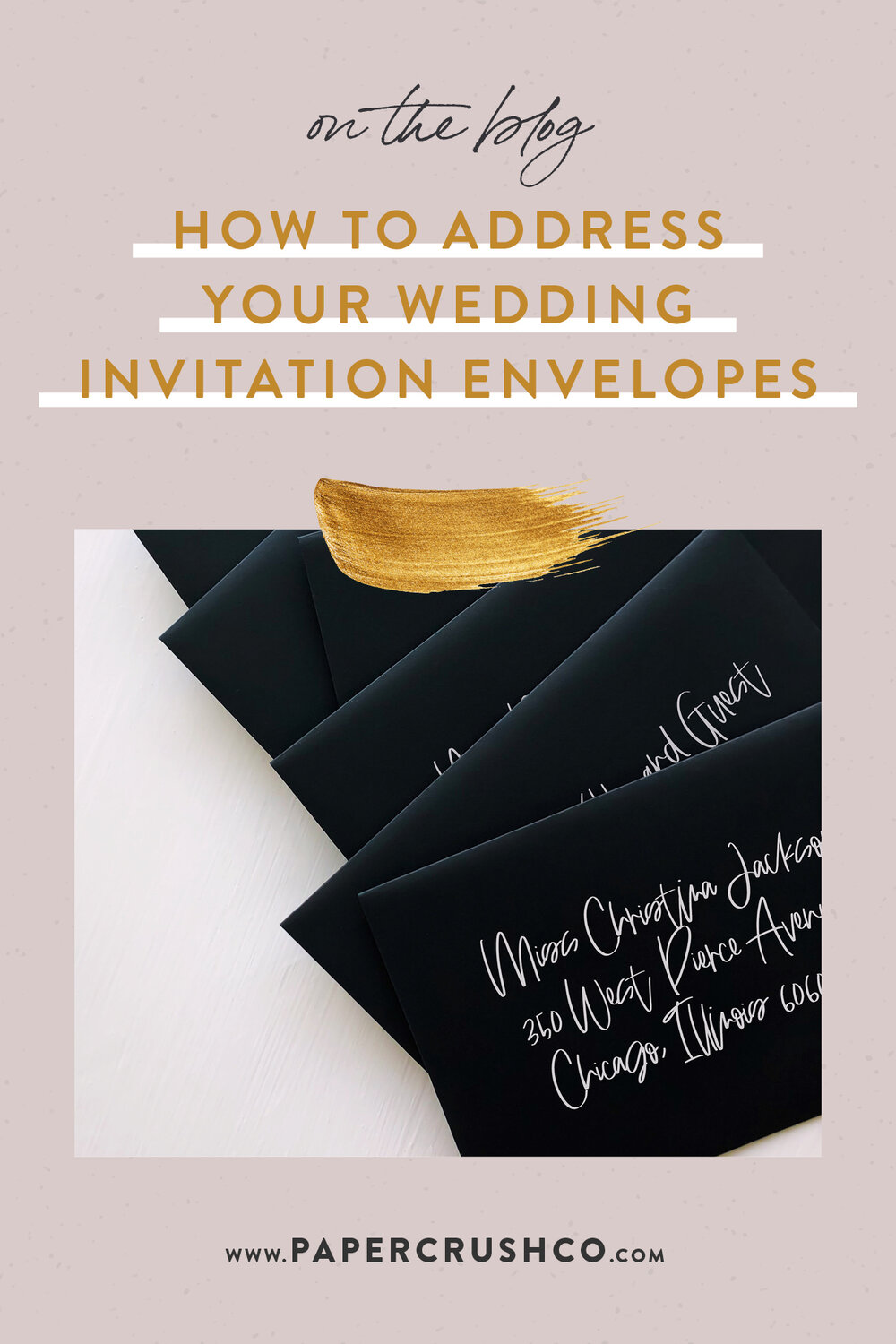 How to Address Your Wedding Envelope Invitations