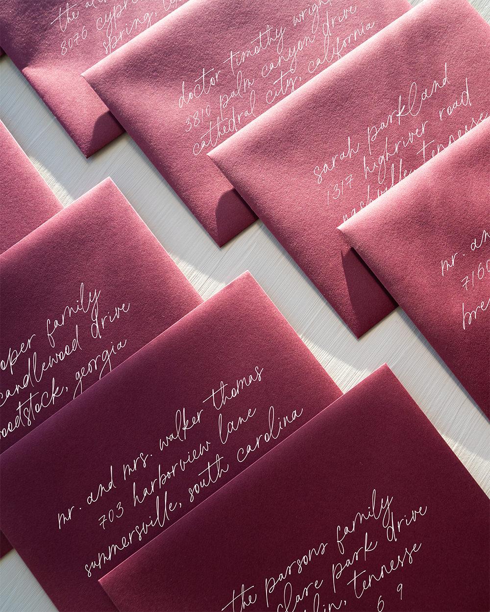 Romantic Wedding Envelope Guest Addressing