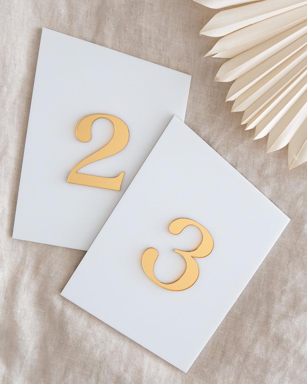 PaperCrush Elegant Acrylic Table Numbers