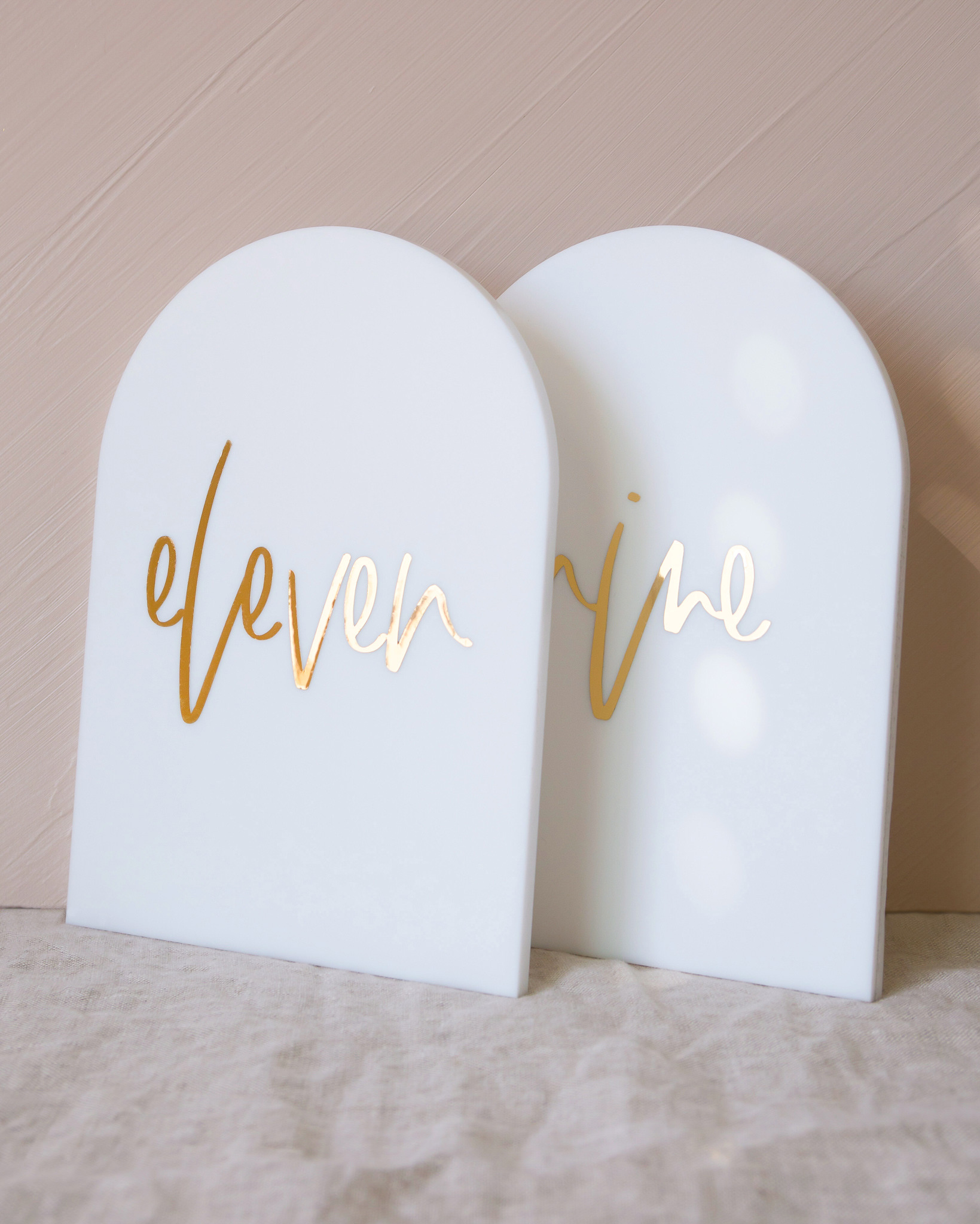 PaperCrush Modern Acrylic Chic Table Numbers