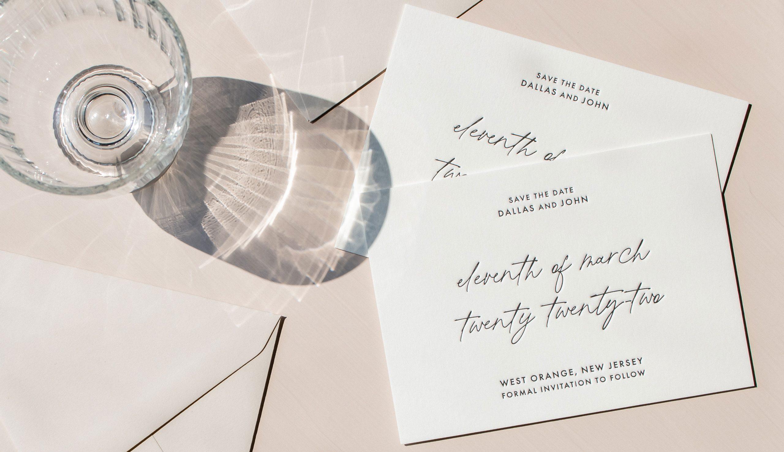 PaperCrush Modern Luxury Wedding Stationery Design