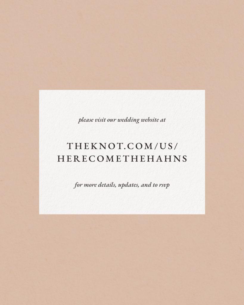 PaperCrush Classic Wedding Details Card Design