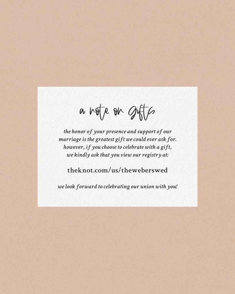 PaperCrush Chic Wedding Details Card Design