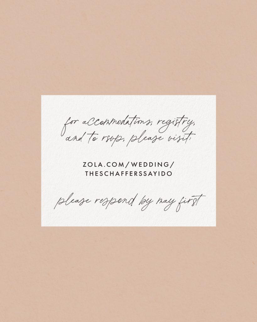 PaperCrush Delicate Wedding Details Card Design
