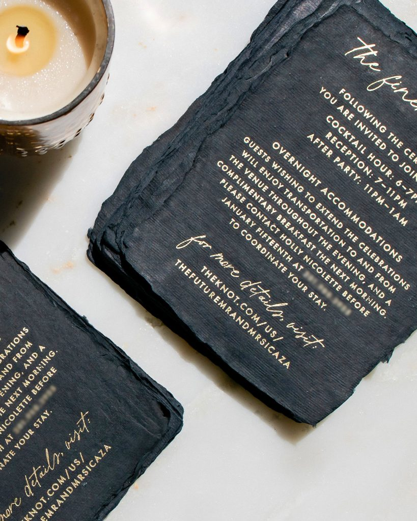 PaperCrush Elegant Foil Wedding Stationery