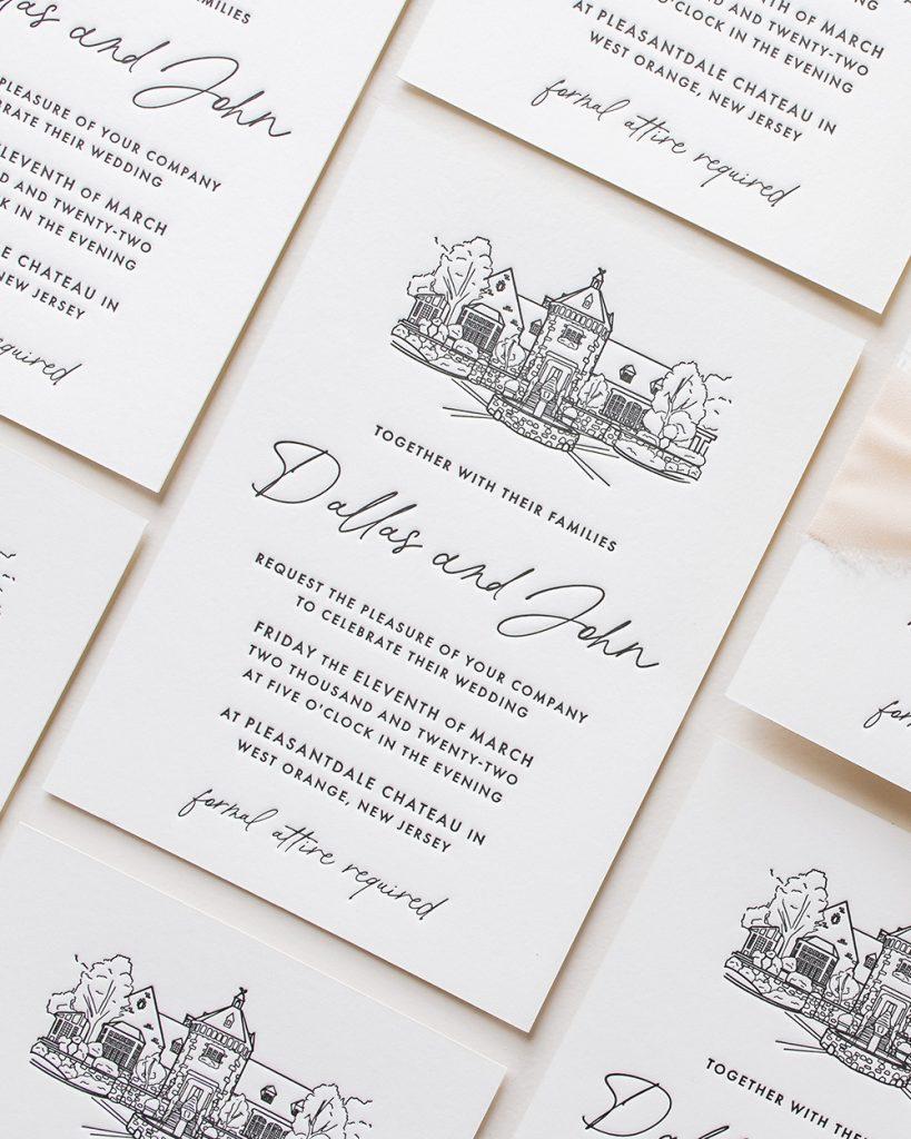 PaperCrush Minimal Modern Wedding Invite Design